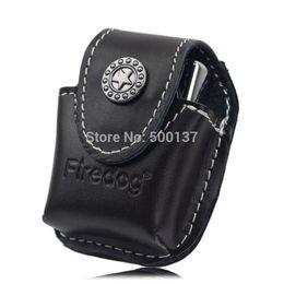 Wholesale Metal Belt Clips For Leather - FIREDOG Genuine Leather Flip top Lighter pouch metal belt clip lighter pouch holder case For oil kerosene lighter