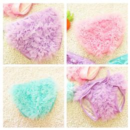 Wholesale Baby Swim Diaper - Baby Girls Swim Pants Lace Brief Tutu Board Shorts Hot Spring Swim Trunks Girl's Short Diapers Bowknot Pant Swimwear pink Purple blue A6438