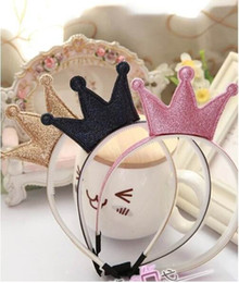 plastic hair crown Coupons - Children Shining Crown Hair Sticks Girl Hair Hoop Portrait Photograph Props Headwear 2015012 Pink Rose Gold Navy