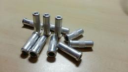 Eixos de seta de carbono on-line-50 peças de caça besta de carbono flecha de seta de alumínio insere para o diâmetro interno 7.62mm eixo de seta