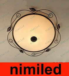 Wholesale Rustic Porches - nimi545 European American Style Rustic Wrought Iron Light Ceiling Bedroom Balcony Aisle Porch Ceiling Cloakroom Arts Lamp Lighting