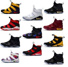 Wholesale Cheap Basketball Shoes For Sale - 2017 New Arrival James XI Soldiers 11 Limited Edition Chameleon Men's Basketball Shoes for Top Quality Cheap Sale Sports Sneakers Size 40-46