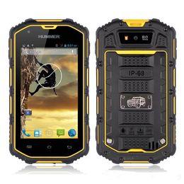 Wholesale Ip67 Gps - Military Manufacturing Dual sim Humer H5 Smart android rugged mobile phone unlocked waterproof phone IP67 Dual Core MTK6572