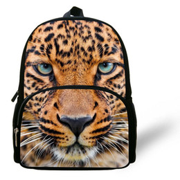 Kinderrucksäcke leoparddruck online-12-Zoll-Mochila Leopard Schultasche Tier Rucksäcke Leopard gedruckt Mode Kinder Schultasche für Jungen und Mädchen im Alter von 1-6