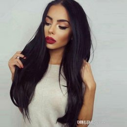 Wholesale Tangle Free Full Lace Wigs - Long Length Full Lace Wigs 7A Grade Human Hair Straight Lace Front wig European Human Hair Wigs No Tangle And Shedding Free