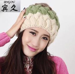 Wholesale Girl Spells - Sphere spell color female winter hat warm winter days, Ms. hat Korean rabbit fur knit cap wholesale Department