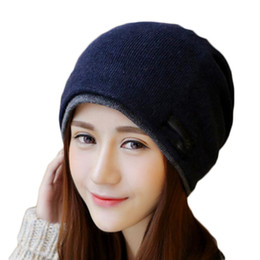Wholesale Jacquard Wool Knitted Scarf - S5Q Woman and Men fashion Casual Warm Wool Knitted Beanies Hat Scarf Winter Cap AAAFNZ
