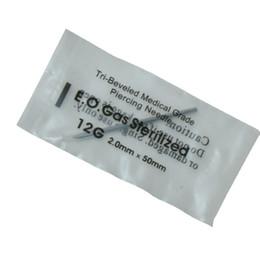 12 калибр 100 шт. Татуировки иглы для пирсинга стерильные одноразовые иглы для пирсинга 12 г для ушей нос пупка соска бесплатная доставка от