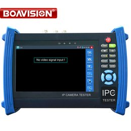 """Wholesale Ptz Camera Tester - 7"""" IP Camera CCTV Tester Monitor OSDMenu For HD 720P 1080PIP Or HDCVI Or Analog Camera Testing Cable Scan Onvif POE Output PTZ Controller"""