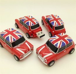 Wholesale Mini Car Flash Drive - Real 2gb 4gb 8gb 16gb 32gb mini cooper Car shape USB Flash Drive pen drive memory stick drop free shipping goodmemory