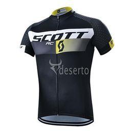 Wholesale Scott Pants - 2015 SCOTT black Cycling Jersey short sleeve bib pants pants Quick Dry Breathable Cycling Clothing GEL PAD size XS-4XL