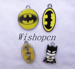 Wholesale Batman Charms - New Superhero Batman Charm pendants Jewelry Making Party Gifts LM20