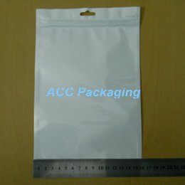 """Wholesale Clear Bags 24cm - Wholesale 16cm*24cm (6.3""""*9.4"""") Clear + White Pearl Plastic Poly OPP Packing Zip Lock Retail Packages Jewelry Food PVC Plastic Bag"""