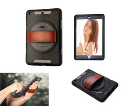 Wholesale Ipad Handheld Case - 360 Degree Rotating Apple Ipad mini 1 2  3 -Handheld shock & Drop Proof Rugged Kickstand Case-TPU Outer Layer& Snap-fit Hard PC Cover Case