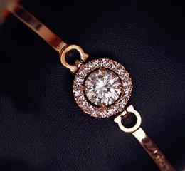 2019 véritables bracelets en diamant Bracelet En Cristal De Diamant Plaqué Or Brillant 18K Véritable Cristal Diamant Pour Femmes véritables bracelets en diamant pas cher