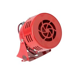 Wholesale Air Drive Motor - Universal Car Horns Speaker 12V 3'' 22 Automotive Motorcycle Horns Air Raid Siren Horn Car Truck Motor Driven Alarm Red