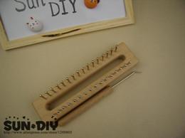 Canada Livraison gratuite en bois planche à tricoter métier à tisser facile outil de tissage pour l'artisanat fait main Offre