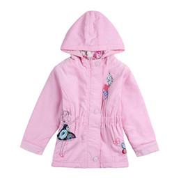 Wholesale Nova Kids Clothes - children girls outwear nova brand kids clothes embroider cartoon casual autumn winter 100% cotton coat for baby girls F5250