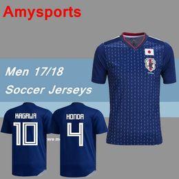 Wholesale Japan 18 - 2018 World Cup Japan home blue soccer jersey OKAZAKI KAGAWA HASEBE NAGATOMO 17 18 Japan kits football shirts