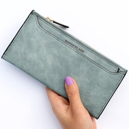 Wholesale Cattle Brands - Wholesale- High quality cattle and amraphel frosted PU leather womens wallets and purses luxury brand high-capacity Ladies card wallet bags
