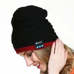 Wholesale Original Hats Wholesale - 100% Original Soft Warm Beanie Hat Wireless Bluetooth Smart Cap Headset Headphone Speaker Mic Stereo Bluetooth Hat 50 pcs YYA576
