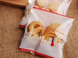 Wholesale Self Adhesive Packing Bag - 2015New 10x11cm White Snow House Self-adhesive Gift Food Packing bag ,Cellophane Bag, Cute Biscuit Plastic Bag (300pcs)
