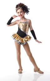 Wholesale Gold Latin Dress - women latin ballroom dance dress Child gold leotard evening dress princess dress child costume female Latin dance clothes