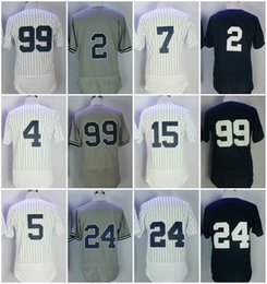 Wholesale Gehrig Jersey - New York Men's 99 Aaron Judge 2 Derek Jeter 3 Babe Ruth 4 Gehrig 5 DiMaggio 24 Gary Sanchez 7 Mantle Baseball jerseys