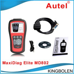 Wholesale Vehicle Battery Testers - DHL Fedex Free Autel Maxidiag Elite MD802 (MD701+MD702+MD703+MD704) Universal Diagnostic Scanner Tool For European American Aisan Vehicles