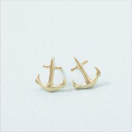 Boucles d'oreilles ancre mode marins amour boucles d'oreilles pour femmes en gros livraison gratuite18K boucles d'oreilles classiques en plaqué or ? partir de fabricateur