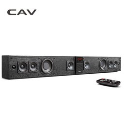 Wholesale Dock Sound - Wholesale- CAV BS30 Bluetooth Soundbar Column Dual Subwoofers Speaker Home Theater DTS Surround Sound System Hang Wall Built-in 3D Stereo