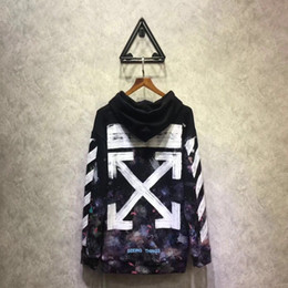 Wholesale Universe Black - Falection 17fw Off White Diagonals Print Universe Pullover Hoodie Sweatshirt