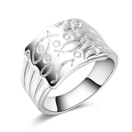 Wholesale Hot Jewelry Trends - Free Shipping New 925 Sterling Silver fashion jewelry Trend Men ring hot sell girl gift 1482