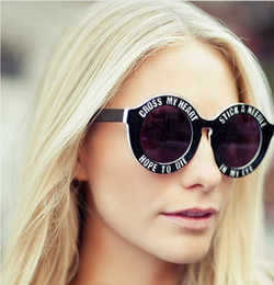 Wholesale Vintage Houses - House of holland sunglasses women 2015 vintage round men sunglasses Oversized high quality women sunglasses
