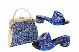 Wholesale Leather Bag Italian - High Quality Italian Shoes With Matching Bags African Women Shoes and Bags Set for party OB6-1