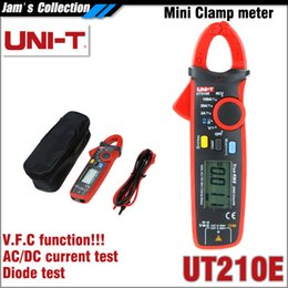 Wholesale Contact Frequency - UNI-T UT210E Voltage-Frequency-Converter VFC digital mini clamp meter with Non-contact voltage NCV True RMS UNI T UT-210E