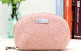 Wholesale Fur Storage Bags - Artistic Young People Cosmetic Bag Travel Wash Bag Portable Storage Bag knitting Fur Pretty Fairy Handbag