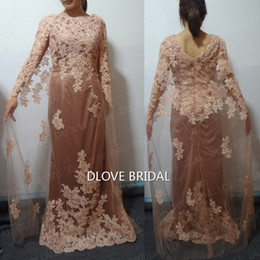 Wholesale Winter Water Factory - Fairy Dark Champagne Column Evening Dress Factory High Quality Custom Made Real Image Formal Event Prom Party Dresses Special Occassion Gown