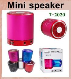 музыкальные усилители Скидка спикер портативный мини-динамик коробка усилитель колонки сабвуфер T 2020 music angel 2.0 динамик с FM-радио открытый динамик MIS050