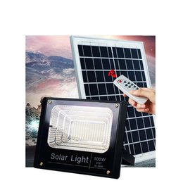 Wholesale Quality Solar Panels - 2017 NEW High Quality 30W 50W 100W Solar Powered Panel Led Remote control Flood Lights outdoor floodlight Garden outdoor Street light