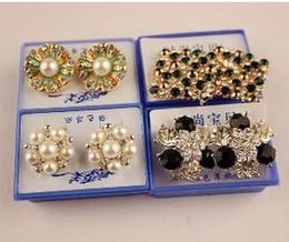 Wholesale Swarovski Rings Rose Gold - 2015 earrings ear rings rose gold geometric earrings swarovski earrings Christmas earrings Wedding Stud Earring wholesale earring