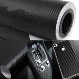 Tuning 3d online-Película de vinilo de fibra de carbono 3D negro 127 cm * 30 cm estilo de coche impermeable etiqueta engomada del coche envoltura DIY coche tuning parte pegatina