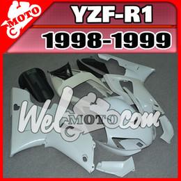 Wholesale 99 Yamaha R1 Plastics - In Stock Welmotocom Injection Mold Unpainted(Unpolished) Fairings For Yamaha YZFR1 YZF-R1 YZF R1 1998 1999 98 99 Y18W00