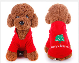 Wholesale Dog Christmas Outfits - Small Dog christmas outfit Go up Sweater cute dog clothes for small dogs boy sweaters for dogs