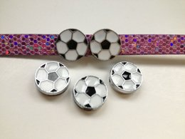 Wholesale 8mm Pet Collars - Hotsales! Wholesales 50pcs 8mm Zinc alloy British football  soccer slide charms fit 8mm wristand pet collars and keychains