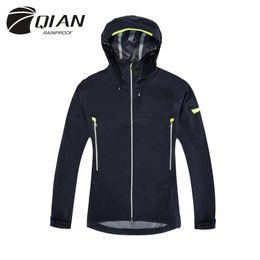 Wholesale Men Rainproof Jacket - QIAN RAINPROOF Impermeable Outdoor Raincoat Women Men Rain Jacket Waterproof Rain Poncho Motorcycle Raincoat Rainwear Rain Gear