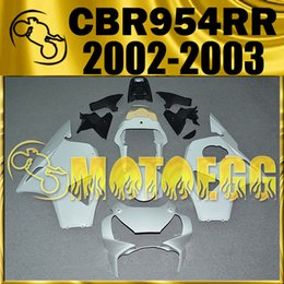 Wholesale Honda Cbr 954 Plastics - In Stock Motoegg Unpainted (Unpolished)Fairings Injection Mold For Honda CBR900RR 954 CBR954RR CBR 954RR 2002 2003 02 03 H95M00