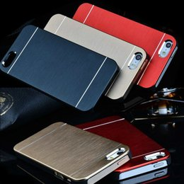 Wholesale Galaxy S4 Cases Aluminum - MOTOMO Metal Metalic Brushed Aluminum PC Hard case for Iphone 6 6 Plus 5S 4S Galaxy S6 S5 S4 Note 3 4 Back cover case