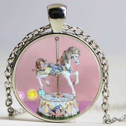 Wholesale Romance Jewelry - Christmas Gift Carrousel Romance Pendant Necklace High Quality Whirligig Necklace Razzle Jewelry Gift For Lovers