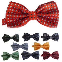 Wholesale Wool Strips - New dots lepord strip Fashion bowties men's ties men's bow ties men bow tie pure color women lady bowtie